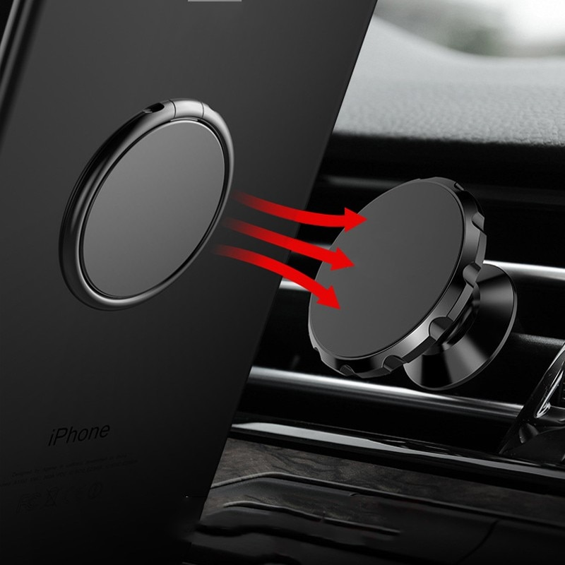 Luxury metal Mobile Phone Socket Holder Universal 360 Degree Rotation Finger Ring Holder Magnetic Car Bracket Stand Accessories